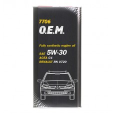 Mannol 7706 O.E.M. for Renault/Nissan 5W-30 5L (77065L)
